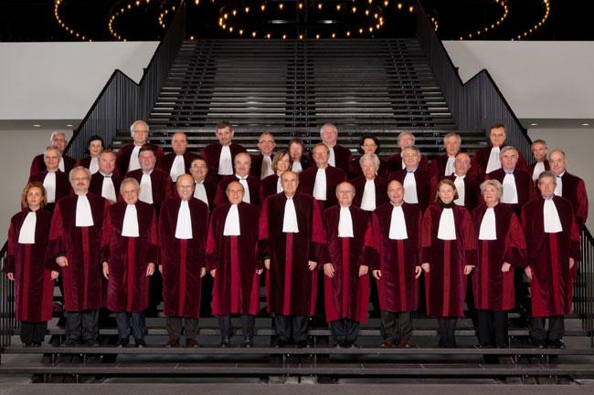 Les juges de la Cour de Justice de l'Union européenne